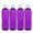 MoYo Natural Labs 4 oz Squirt Bottles, Squeezable Empty Travel Containers, BPA Free PET Plastic for Essential Oils and Liquids, Toiletry/Cosmetic Bottles (Neck 20-410) (Pack of 4, Purple)