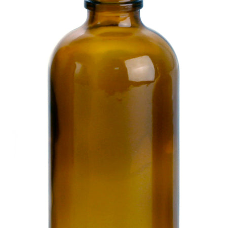 4 oz Glass Bottle Boston Round with Black Dropper Amber (24-410) Qty 100