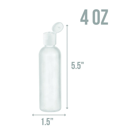 4 oz travel bottle HDPE flip cap empty travel size containers - 50 Pack