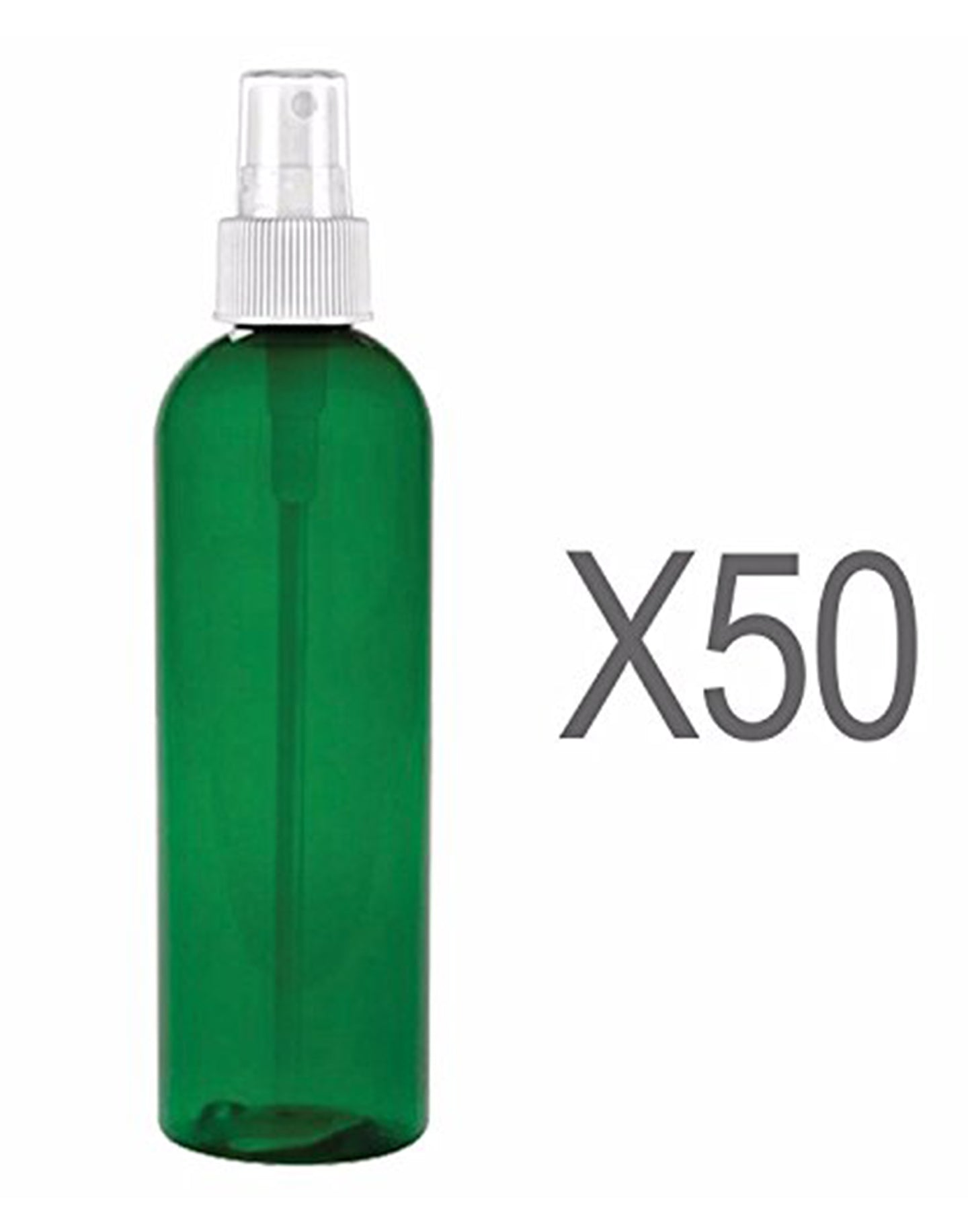 MoYo Natural Labs 4 oz Spray Bottles Fine Mist Empty Travel Containers, BPA Free PET Plastic for Essential Oils and Liquids/Cosmetics (Neck 20-410) (Pack of 50, Forest Green)