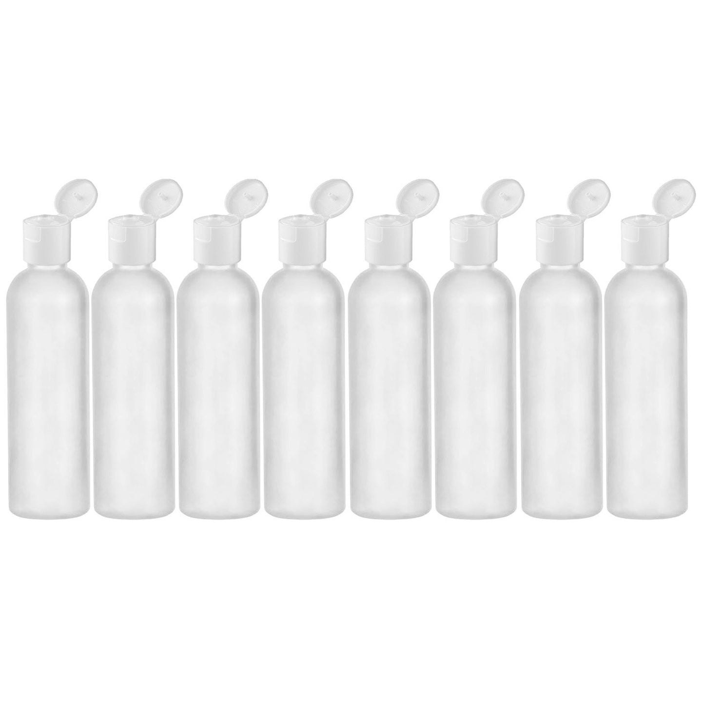 4 oz travel bottle HDPE flip cap empty travel size containers - 8 Pack