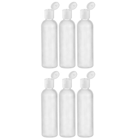 2 Oz HDPE Flip Cap Empty Travel Bottles - Translucent 6 pack