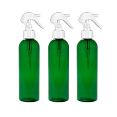 8 Oz Psychedelic No Leak PET Fine Mist Spray Bottles with Trigger - Green 3 Pack