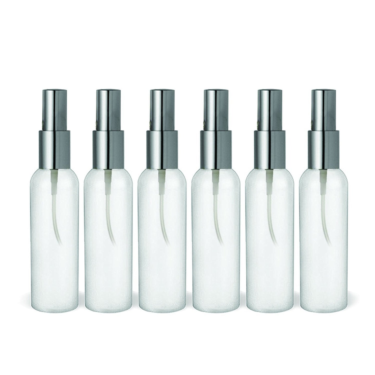 2 Oz Mini Bullet style HDPE Mist Spray Atomizer Bottles TSA Approved and BPA Free - 6 Pack