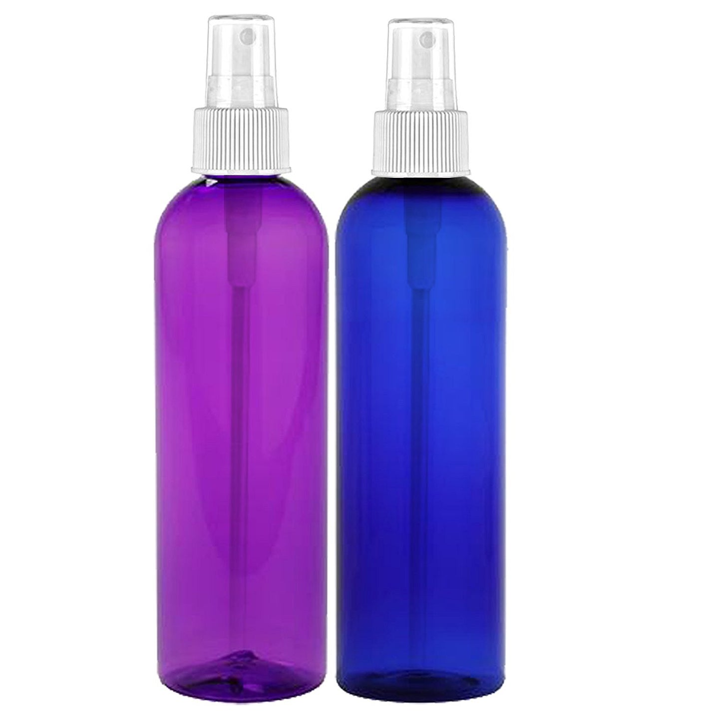MoYo Natural Labs 8 oz Spray Bottles, Fine Mist Empty Travel Containers, BPA Free PET Plastic for Essential Oils and Liquids/Cosmetics Bottle (2 pack, Multi Color)