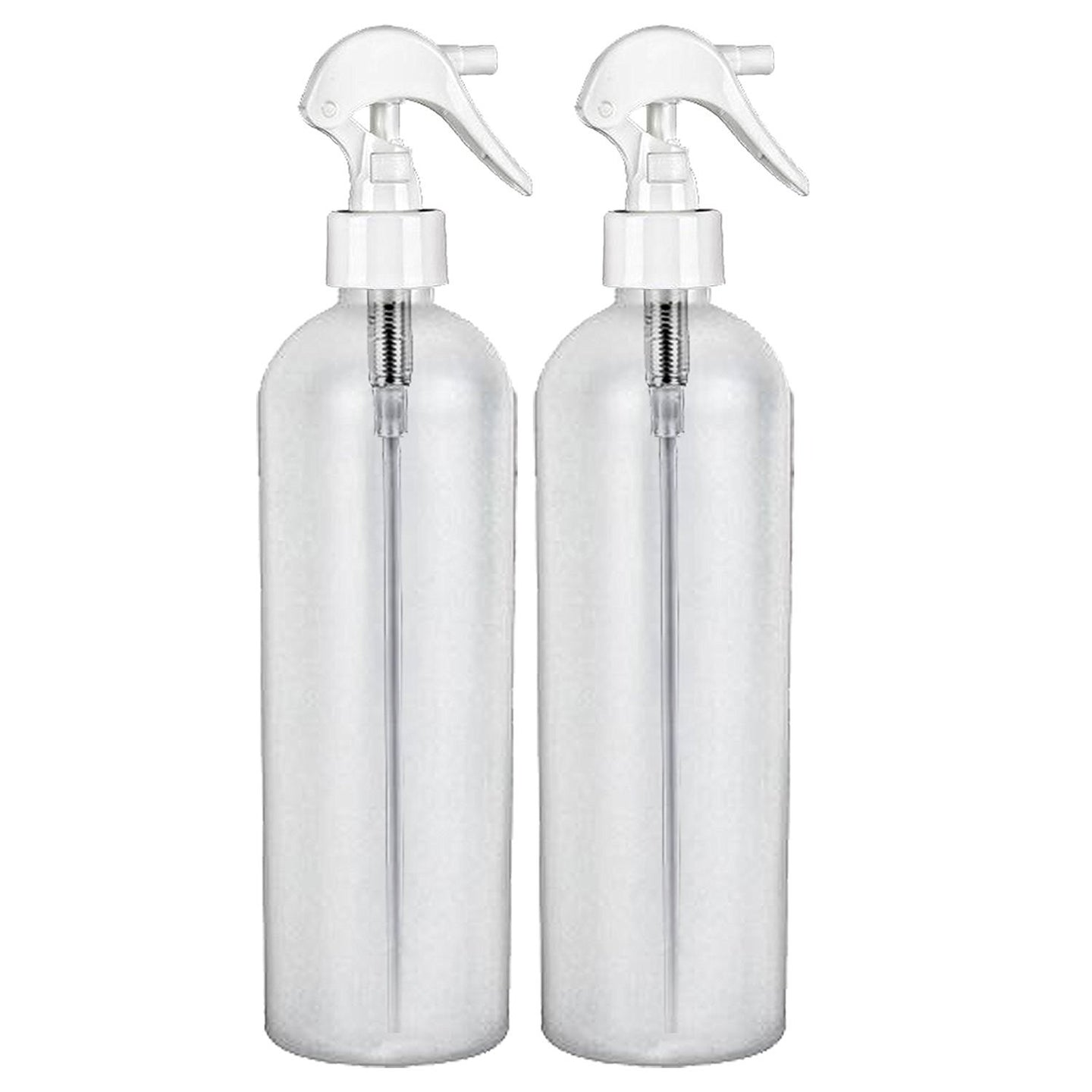 Moyo Natural Labs 16 Oz HDPE Fine Mist Bottle with Trigger BPA Free Container Refillable Reusable Made in USA Pack of 2
