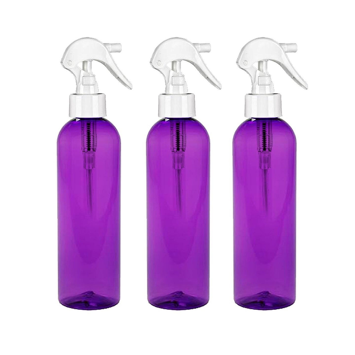 MoYo Natural Labs 8 oz Spray Bottles, Trigger Sprayer Empty Travel Containers, BPA Free for Essential Oils and Liquids/Cosmetics (Pack of 3, Purple)