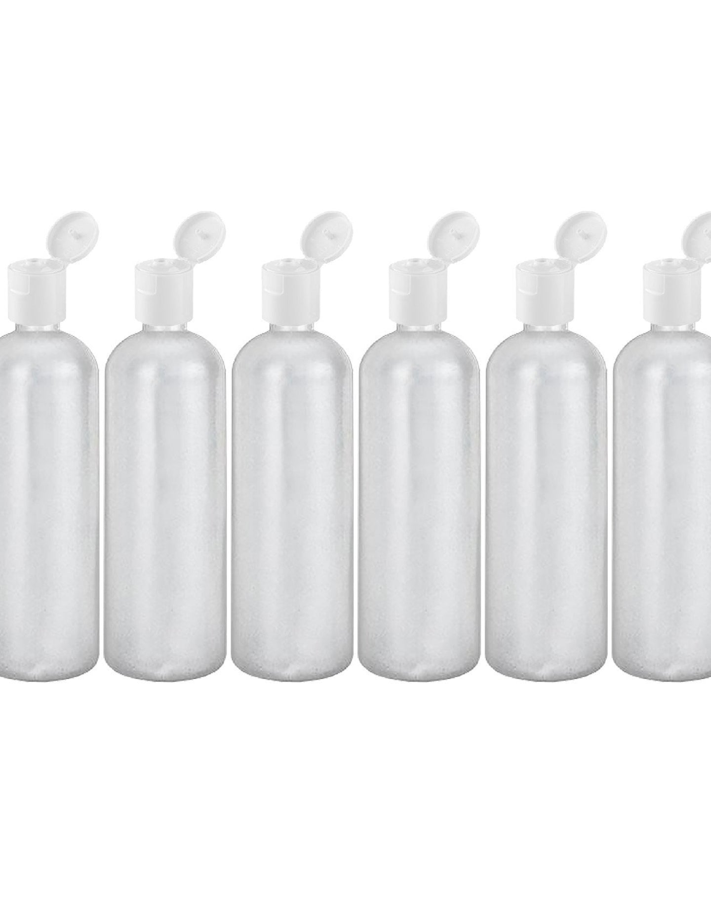 MoYo Natural Labs 32 oz Refillable Bottles, Empty Travel Containers with Flip Caps, BPA Free HDPE Plastic Squeezable Toiletry/Cosmetics Bottle (Pack of 6, HDPE Translucent White)