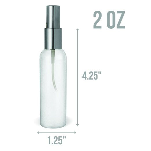 2 Oz Mini Bullet style HDPE Mist Spray Atomizer Bottles TSA Approved and BPA Free - 8 Pack