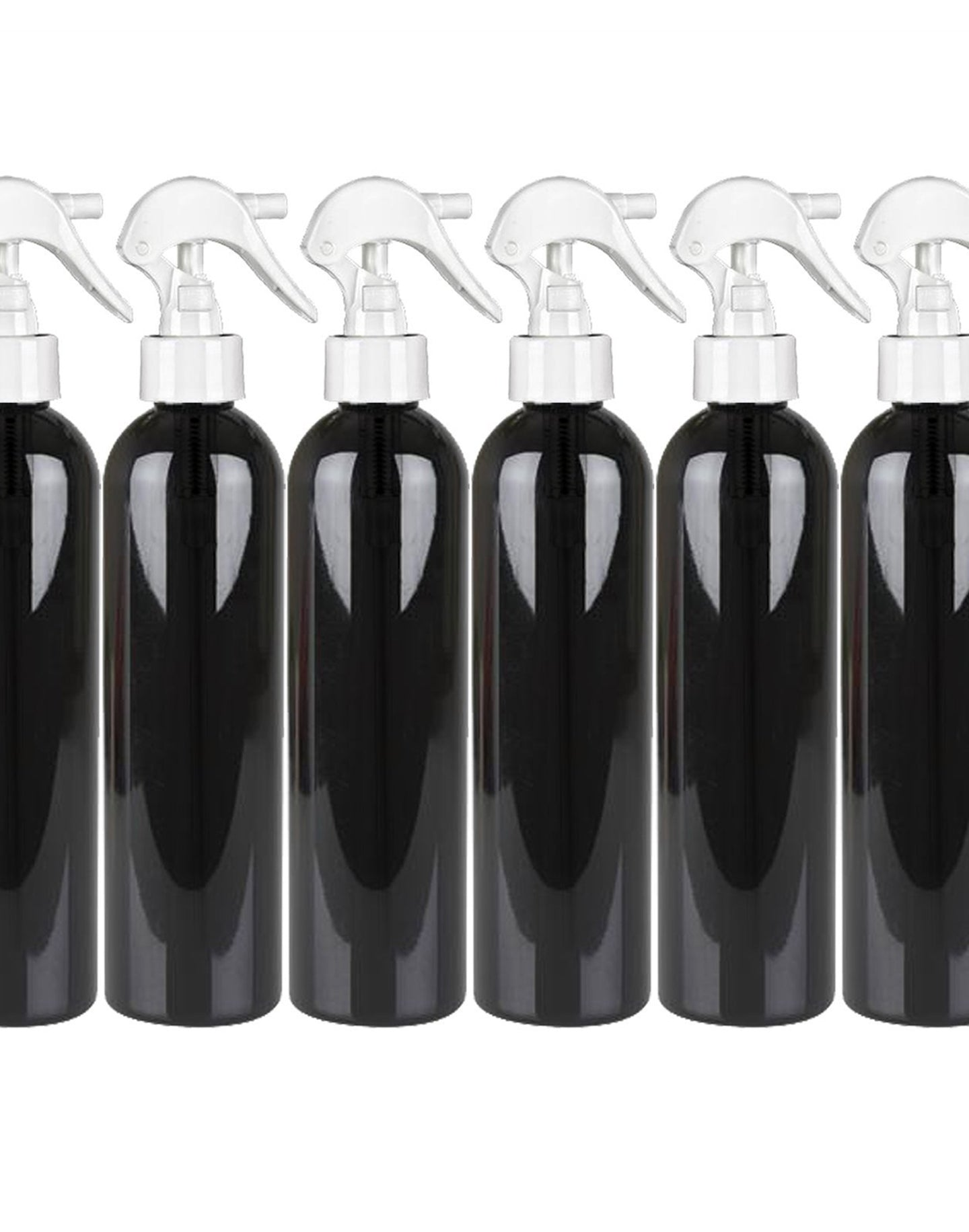 MoYo Natural Labs 8 oz Spray Bottles, Trigger Sprayer Empty Travel Containers, BPA Free PET Plastic for Essential Oils and Liquids/Cosmetics (6 pack, Black)