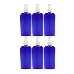 MoYo Natural Labs 8 Oz Large Mist Spray Bottle Refillable Reusable Empty Fine Mist Bottle Cobalt Blue Oval (Pack of 6)