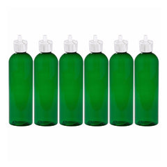 MoYo Natural Labs Turret Spout 8 oz Empty Liquid Bottle with Adjustable Dispenser (Pack of 6, Green)