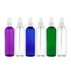 MoYo Natural Labs 4 oz Spray Bottles Fine Mist Empty Travel Containers, BPA Free PET Plastic for Essential Oils and Liquids/Cosmetics Psychedelic Bottle (Pack of 6 Multi Color)