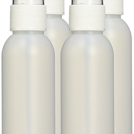 2 oz HDPE Fine Mist Spray Bottle - 4 Pack