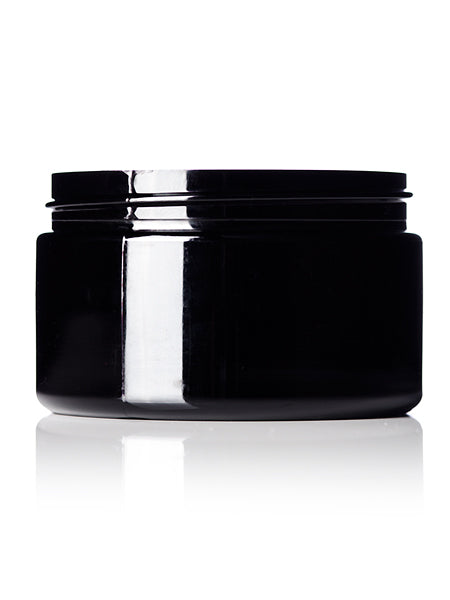 4 oz All-Purpose black PET single wall jar with 70-400 neck finish, Refillable BPA-Free Plastic Pots - Large Empty Round Cosmetic Containers (Pack of 6)