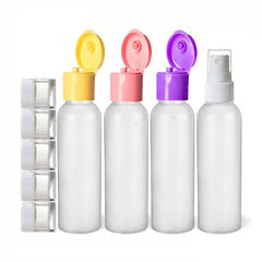 9 Piece 2 Oz Premium HDPE Reusable Travel Spray Bottle - Multicolor