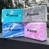 Beemat Marbleized Yoga Block