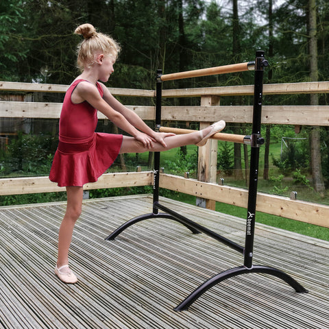 Beemat Freestanding Adjustable Double Ballet Barre 110cm