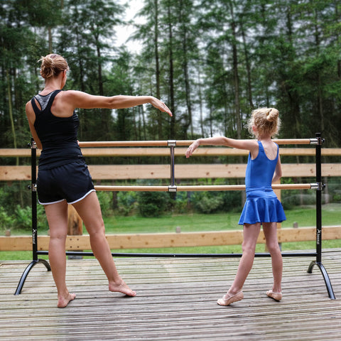 Beemat Freestanding Adjustable Double Ballet Barre 220cm