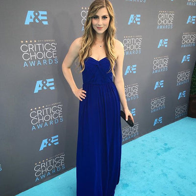 Katie Wilson Wears Cate & Chloe Jewelry to A&E Critics Choice Awards