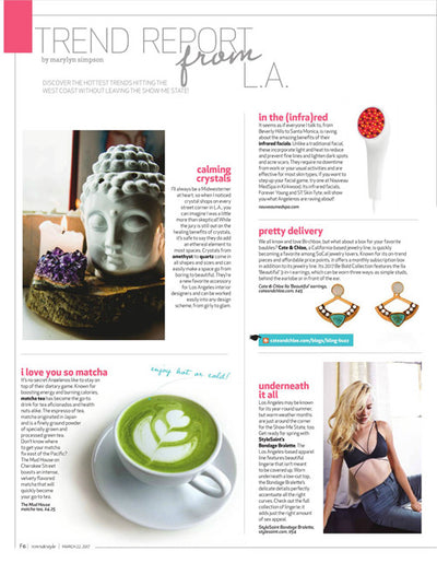 "Cate & Chloe's Ila ""Beautiful"" 3-in-1 Earrings Featured in Town & Style Magazine!"