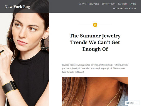 New York Rag Can't Get Enough of Cate & Chloe's Gold Jewelry!