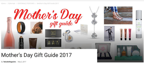 "FEATURED: Sloane ""Hero"" Sterling Silver Necklace seen in Naluda magazine mother's day gift guide!"
