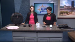 FEATURED: WZZM 13 West Michigan showcases Sloane Sterling Silver 18k Gold Swarovski Drop Necklace
