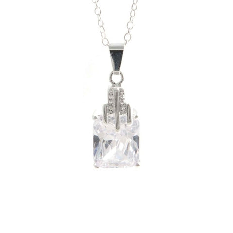 "REMOVED - Karen ""Pure"" Square Necklace - Cate & Chloe  - 1"