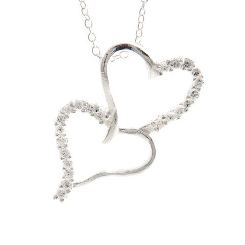 "REMOVED - Jamie ""To Be Loved"" Double Heart Necklace - Cate & Chloe  - 1"