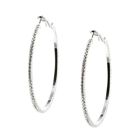 "REMOVED - Casey ""Vigilant"" Hoop Earrings - Cate & Chloe"