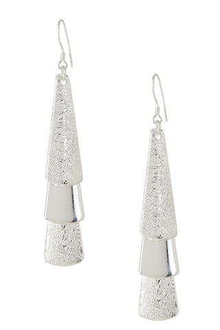 "REMOVED - Mirabelle ""Beauty"" Silver Drop Earrings - Cate & Chloe  - 1"