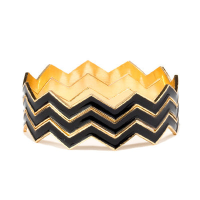 REMOVED - Chevron 3-Piece Bangle - Cate & Chloe  - 1