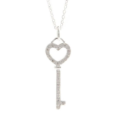 "Alexa ""Protective"" Heart-Key Necklace - Cate & Chloe  - 1"