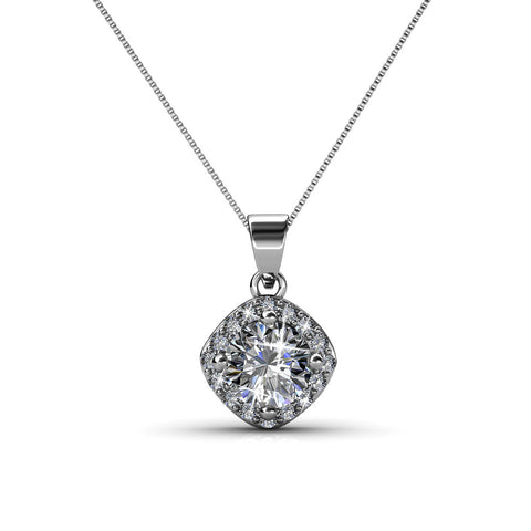 "Celeste ""Glory"" 18k White Gold Swarovski Pendant Necklace"