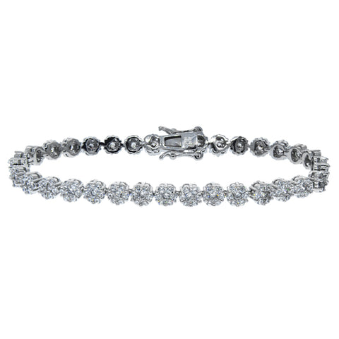 Ally 18k White Gold Tennis Bracelet