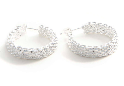 "Kaylie ""pure"" open hoop earrings - Cate & Chloe  - 1"