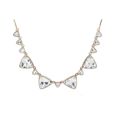 "Mari ""Fearless"" Triangle CZ Gold Statement Necklace"