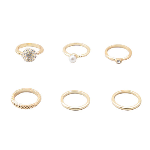 "REMOVED - Marilyn ""Glamorous"" Stacked Ring Set - Cate & Chloe  - 1"
