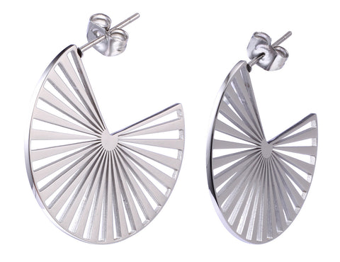 "Cate & Chloe Taylor ""Charisma"" 18k White Gold Plated Stainless Steel Earrings"