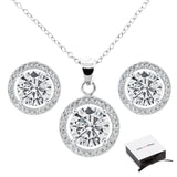 Ariel 18k White Gold Earrings and Necklace Jewelry Set