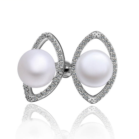 "Earrings,Jewelry - April ""Open Up"" Pearl Earrings"
