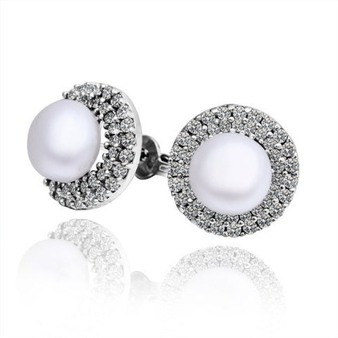 "Earrings,Jewelry - Kimberly ""Bright"" Pearl Earrings"