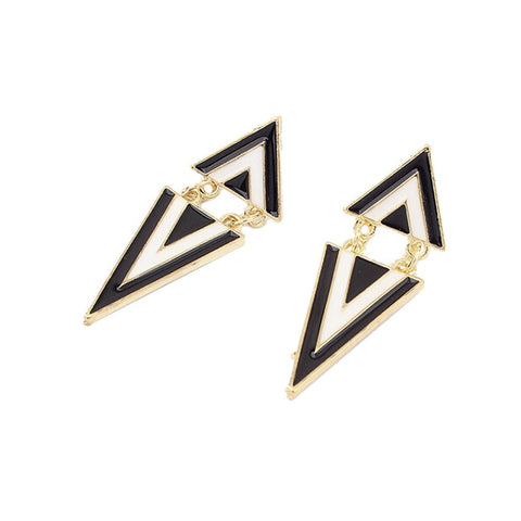 "Earrings,Jewelry - Lucia ""Gifted"" Triangle Gold Drop Earrings"