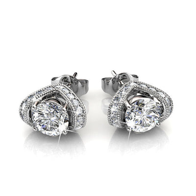 "Earrings,Jewelry,Swarovski - Astrid ""Devine"" 18k White Gold Swarovski Studs"