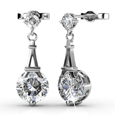 "Earrings,Jewelry,Swarovski - Isla ""Ethereal"" 18k White Gold Swarovski Earrings"