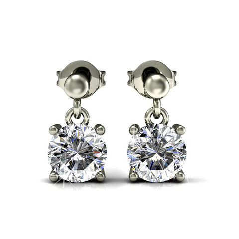 Earrings,Jewelry,Swarovski - Jamie 18k White Gold Plated Swarovski Earrings