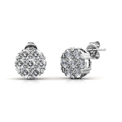 "Earrings,Jewelry,Swarovski - Remy ""Remedy"" 18k White Gold Swarovski Studs"