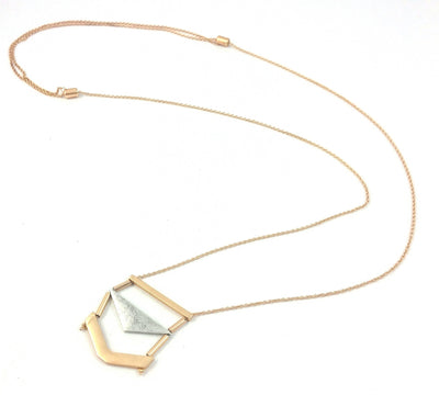 "Harlow ""Fearless"" Two-Toned Necklace"
