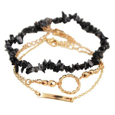 "Jewelry, Bracelets - Renee ""Regal"" Layered Bracelet In Gold"